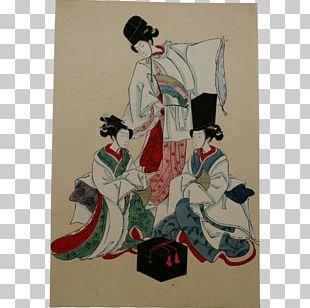 Geisha Costume Design Poster Art PNG