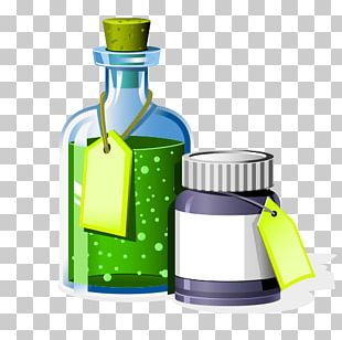 Chemistry Laboratory Experiment Illustration PNG