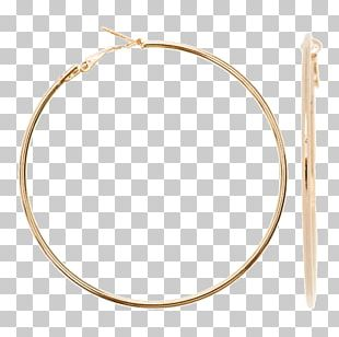 Earring Chain Necklace 4Queens Gold PNG