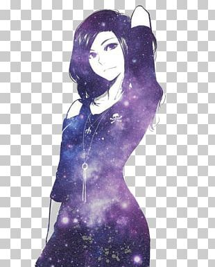 Anime Girl Manga Drawing Galaxy Girl PNG
