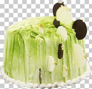 Matcha Buttercream Dessert Bar Chiffon Cake PNG