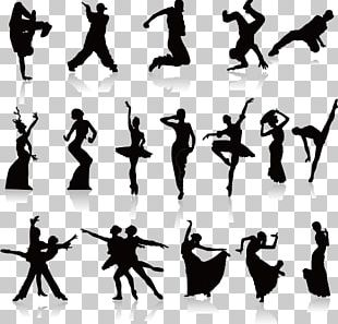 Dance Silhouette Poster PNG
