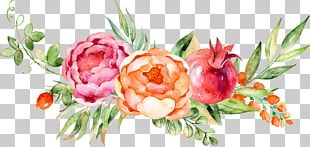 Watercolor Painting Grape Flower PNG