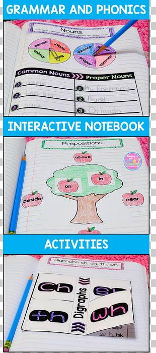 Reading Notebook Writing First Grade Grammar PNG
