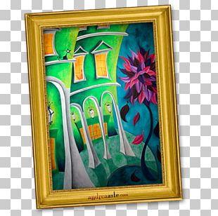 Frame Flower Modern Art Paint PNG