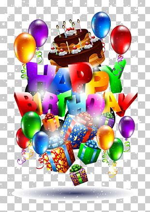 Birthday Cake Wish Greeting Card PNG