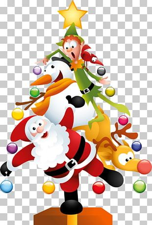 Santa Claus Christmas Tree Christmas Day PNG