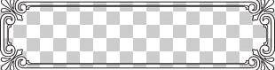 Frame Black White Euclidean Pattern PNG