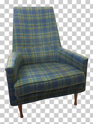 Tartan Club Chair Furniture Bedside Tables PNG
