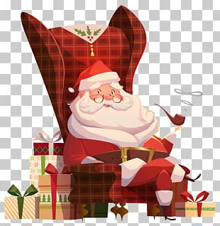 Santa Claus House Mrs. Claus Table Chair PNG