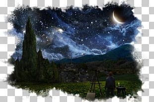 The Starry Night Artist Painting Night Sky PNG