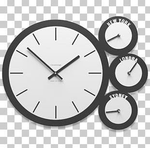 Quartz Clock Watch Alarm Clocks White PNG