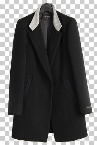 Black Blazer Overcoat Jacket PNG