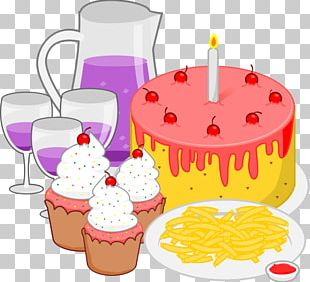Junk Food Fast Food Birthday Cake PNG