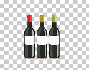 Red Wine Bottle Oak PNG