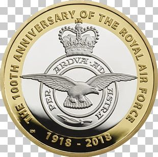Royal Mint Supermarine Spitfire Royal Air Force Coin Two Pounds PNG