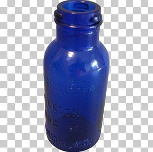 Water Bottles Glass Bottle Cobalt Blue Liquid Cylinder PNG