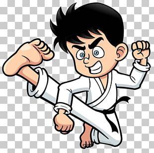 Kick Cartoon Karate PNG