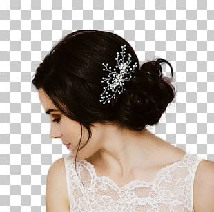 Comb Bun Hairstyle Bride PNG