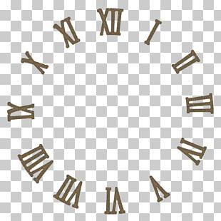 Clock Face Roman Numerals Numeral System Digital Clock PNG
