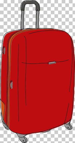 Hand Luggage Suitcase Baggage Drawing PNG