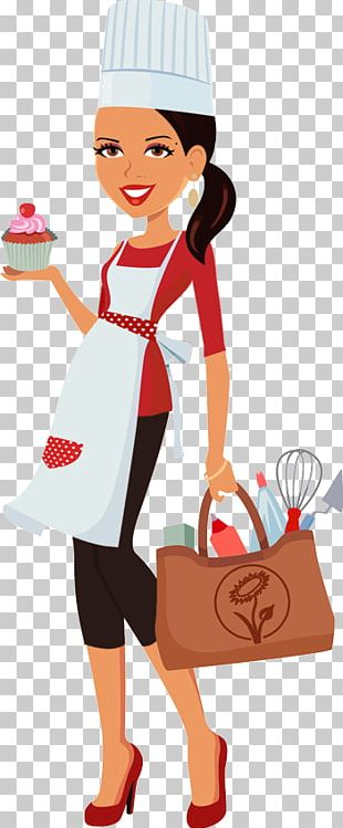 Cupcake Woman Frosting & Icing Chef PNG