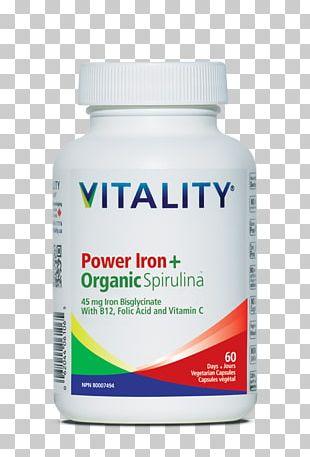 Dietary Supplement Iron Deficiency Spirulina Organic Food Capsule PNG
