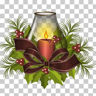 Christmas Decoration Candle PNG