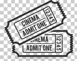 Ticket Cinema Film Coloring Book PNG