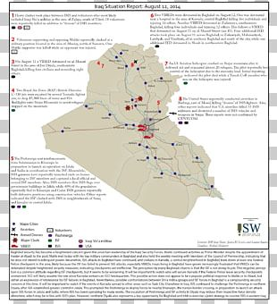 Iraq War Mind Map Institute For The Study Of War Mosul PNG