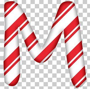 Candy Cane Santa Claus Letter Christmas Alphabet PNG