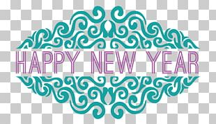 Happy New Year Ornate PNG