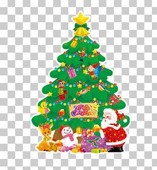 Santa Claus Christmas Tree Sticker Christmas Card PNG