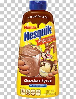 Milkshake Chocolate Milk Milo Nesquik Chocolate Syrup PNG
