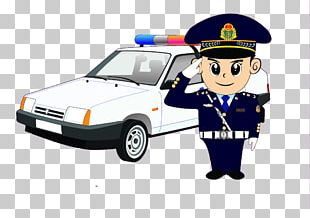 Police Car Police Officer Cartoon PNG