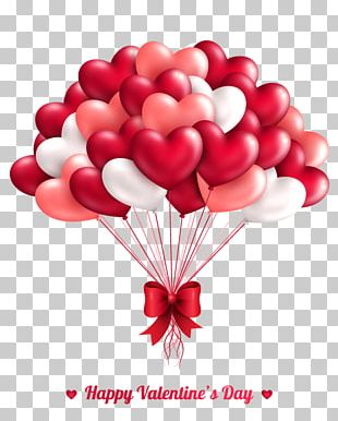 Valentines Day Heart Greeting Card Balloon PNG