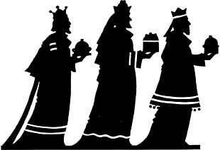 Adoration Of The Magi Biblical Magi Epiphany Silhouette PNG