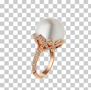 Ring Jewellery Pearl Gold Diamond PNG