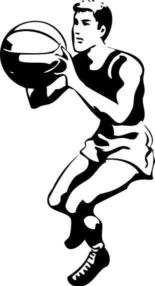 Basketball Black And White Slam Dunk Sport PNG
