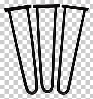 Black Color Hairpin Iron Material PNG