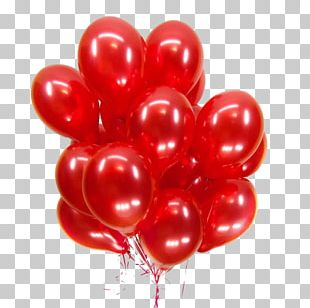 Toy Balloon Red Helium Sky Blue PNG
