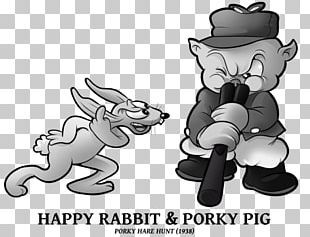 Bugs Bunny Porky Pig Looney Tunes Black And White Rabbit PNG