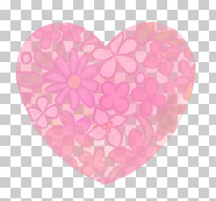 Hand-painted Flower Pattern Watercolor Heart Trans PNG