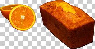 Pound Cake Custard Cream Sugar Orange PNG