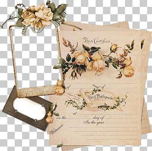 Paper Vintage Clothing Frame Flower PNG