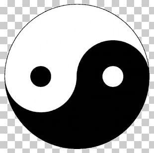 Black And White Yin And Yang Graphics Symbol PNG