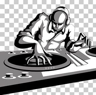 Disc Jockey DJ Mixer Cartoon PNG