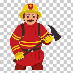 Firefighter Cartoon PNG