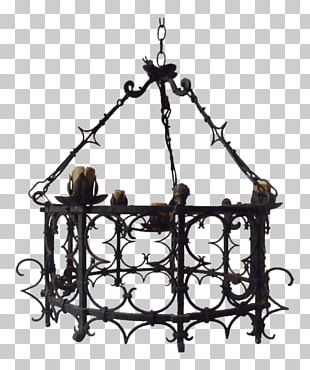 Chandelier Iron Light Fixture Candle PNG