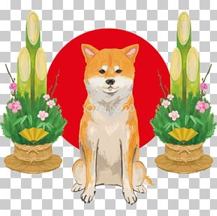 Dog Breed Japanese New Year Rooster Kadomatsu PNG